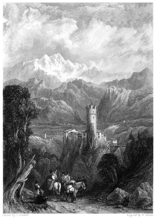 Burg Klamm stock photo