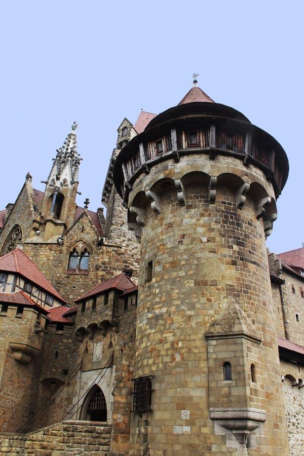 Burg Kreuzenstein tower stock images