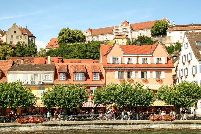 Burg pittoresque de Meersburg sur le lac de Constance photos stock
