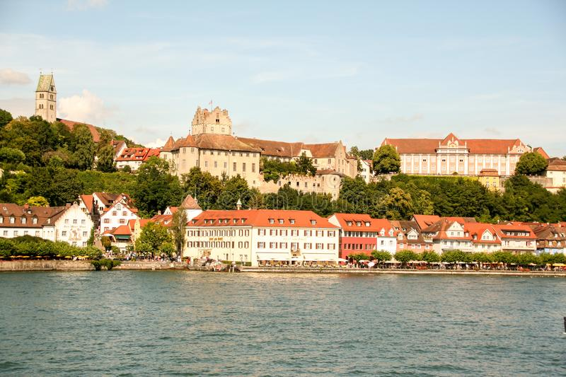Burg pittoresque de Meersburg sur le lac de Constance photo stock