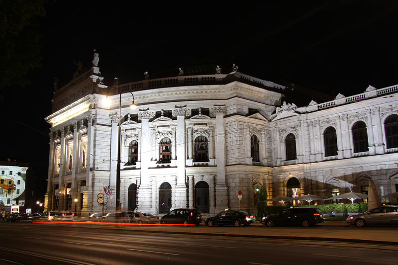 Download Burg Theater In Vienna At Night Editorial Image - Image of night, theatre: 32667685
