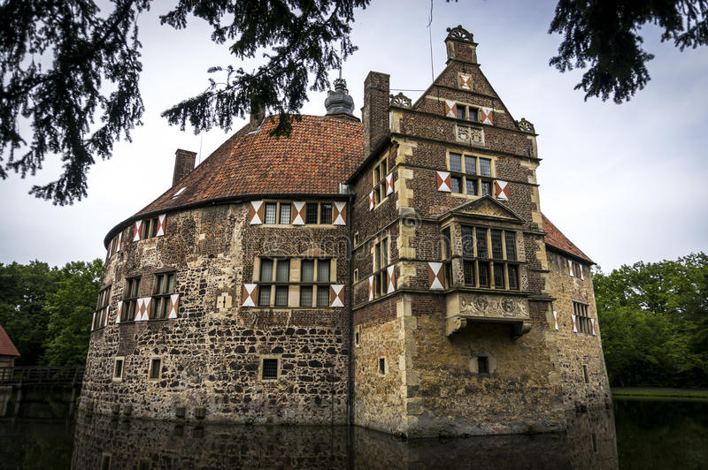 Burg Vischering-Schloss in Deutschland stockfotografie