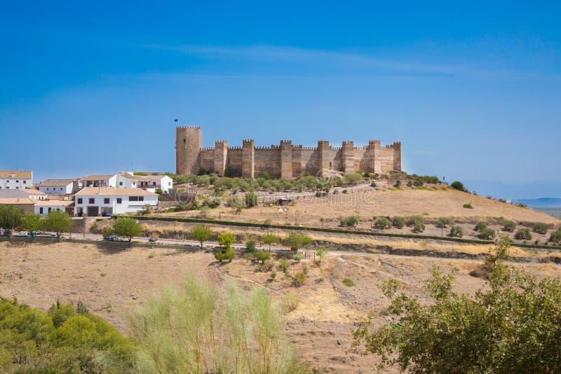Burgalimar-Schloss in Banos De-La Encina lizenzfreie stockbilder