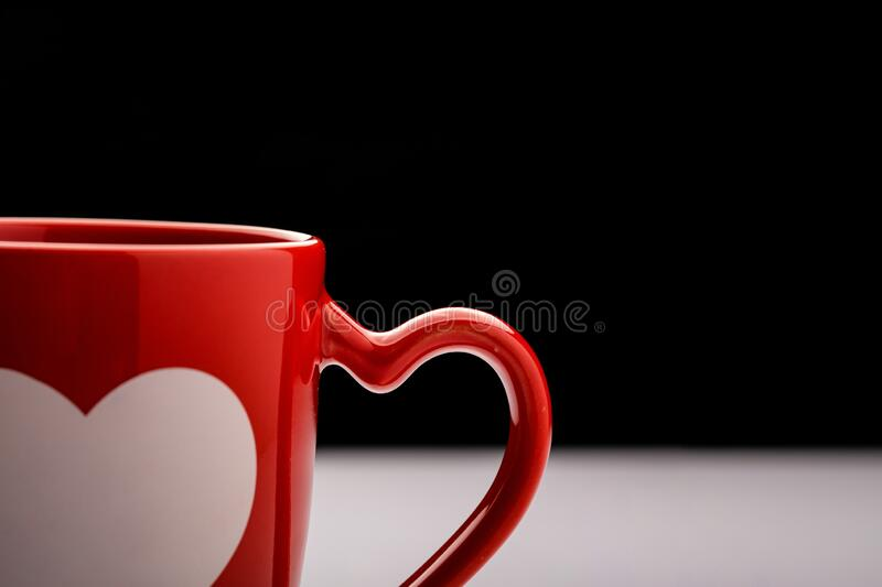 Burgundy coffee mug royalty free stock photography