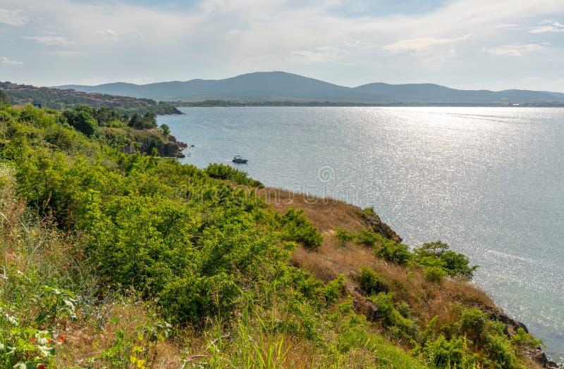 Burgas Bay nära Sozopol, Bulgarien arkivbild
