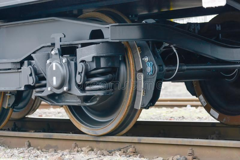 Burgas, Bulgarie - 24 janvier 2017 Train de cargaison de fret - bla images libres de droits