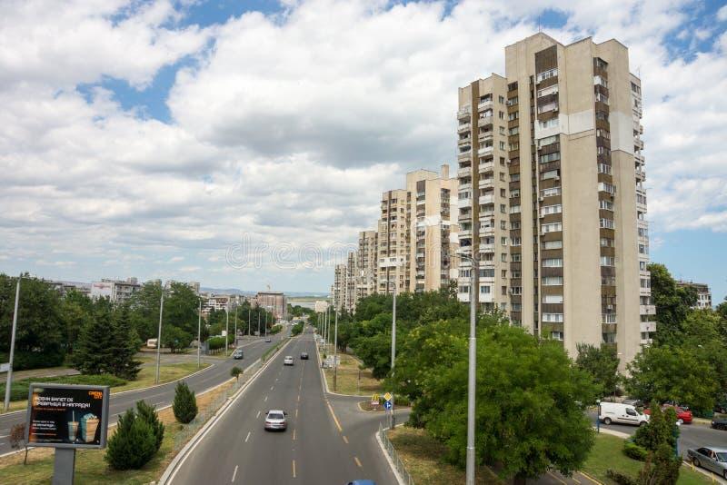 Burgas : Résidences soviétiques quartes, Bulgarie photo libre de droits