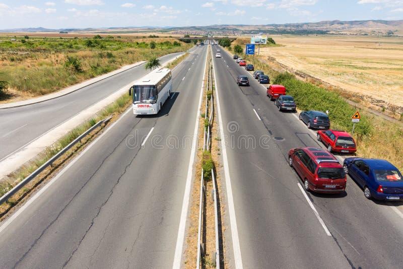 Burgas-Sofia Highway, Bulgaria royalty free stock images