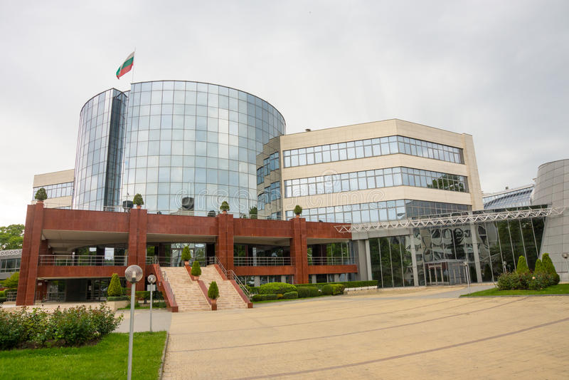 Burgas Vrije Universiteit in Bulgarije royalty-vrije stock afbeeldingen