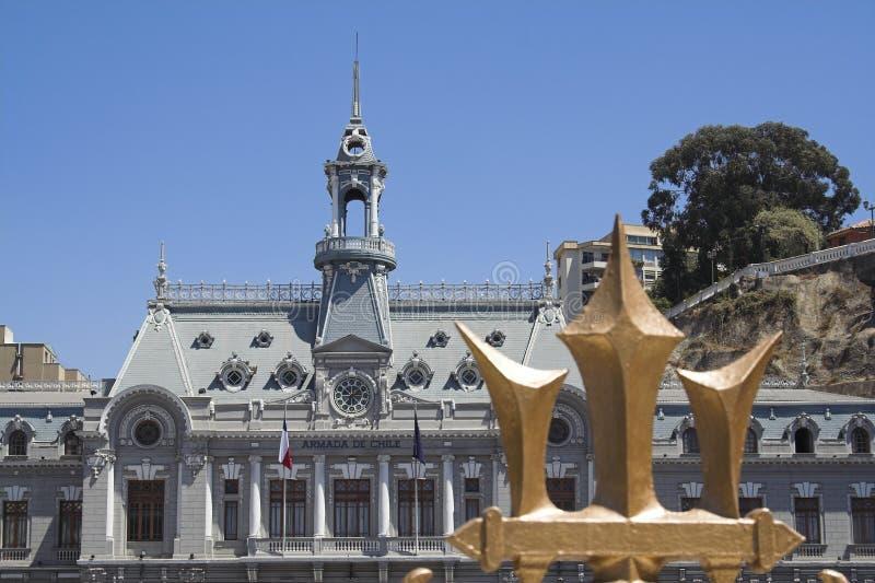 Burgemeester House en een Gouden Drietand stock foto