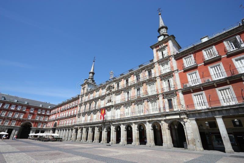 Burgemeester van het plein, Madrid royalty-vrije stock foto