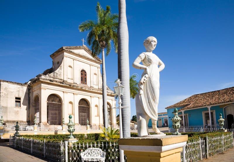 Burgemeester van het plein, Trinidad, Cuba royalty-vrije stock foto