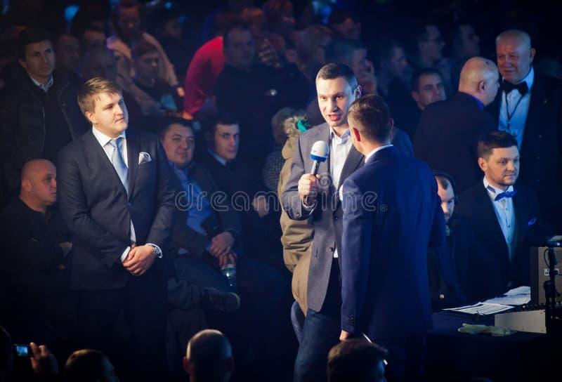 Burgemeester van Kyiv-stad en vroegere zwaargewicht kampioen Vitali Klitsc stock fotografie