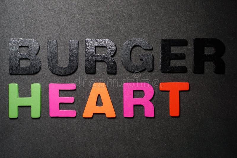Burger καρδιά στοκ εικόνα με δικαίωμα ελεύθερης χρήσης