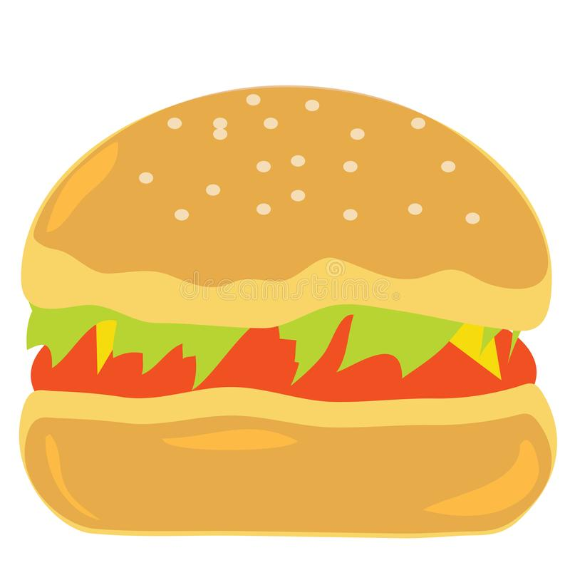 Burger γρήγορου φαγητού είναι νόστιμο απεικόνιση αποθεμάτων