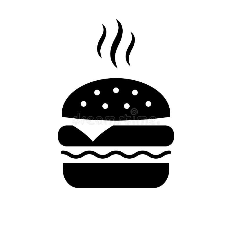Burger διανυσματικό εικονίδιο ελεύθερη απεικόνιση δικαιώματος