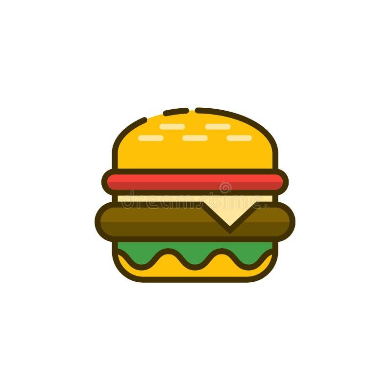 Burger εικονίδιο περιλήψεων r διανυσματική απεικόνιση