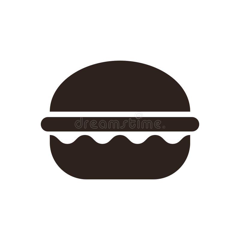 Burger εικονίδιο ελεύθερη απεικόνιση δικαιώματος