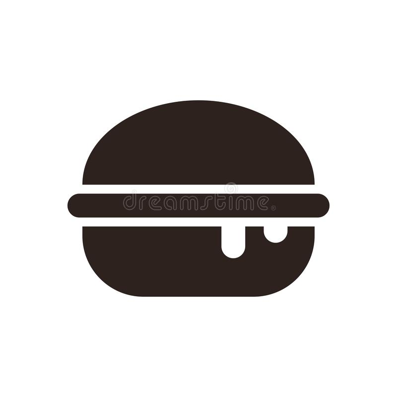 Burger εικονίδιο απεικόνιση αποθεμάτων