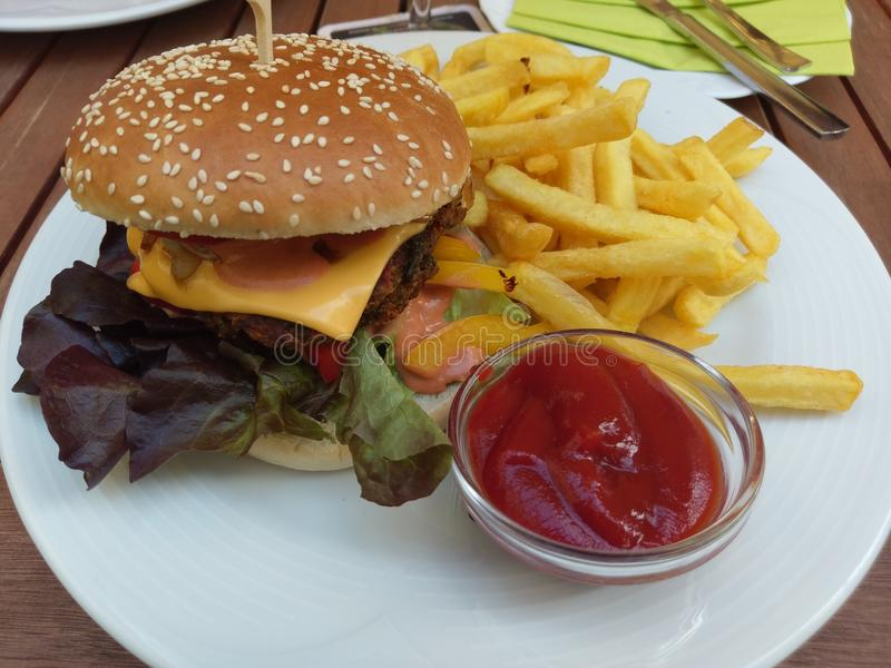 burger νόστιμο στοκ φωτογραφία με δικαίωμα ελεύθερης χρήσης