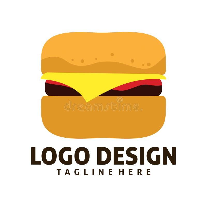 Burger λογότυπο διανυσματική απεικόνιση