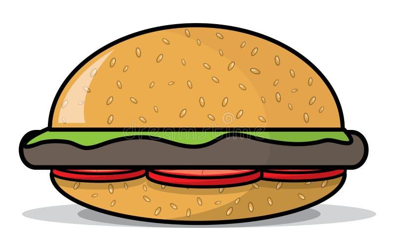 Download Burger stock illustration. Illustration of bread, beef - 16092991