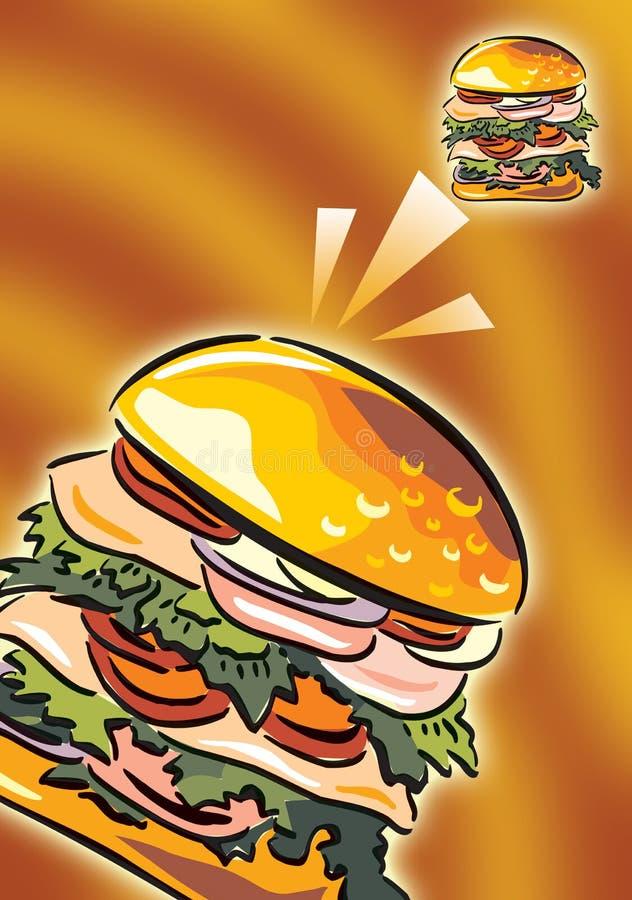 burger royalty free illustration