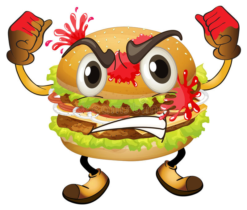 Download A burger stock illustration. Image of hand, arms, burger - 28071465