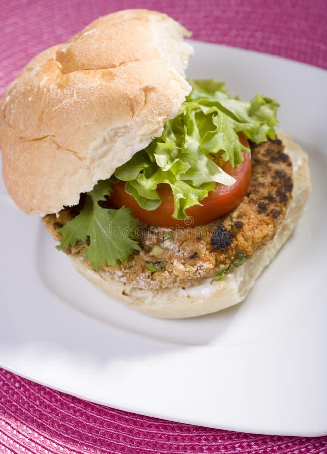 burger chickpea vegan στοκ φωτογραφία με δικαίωμα ελεύθερης χρήσης