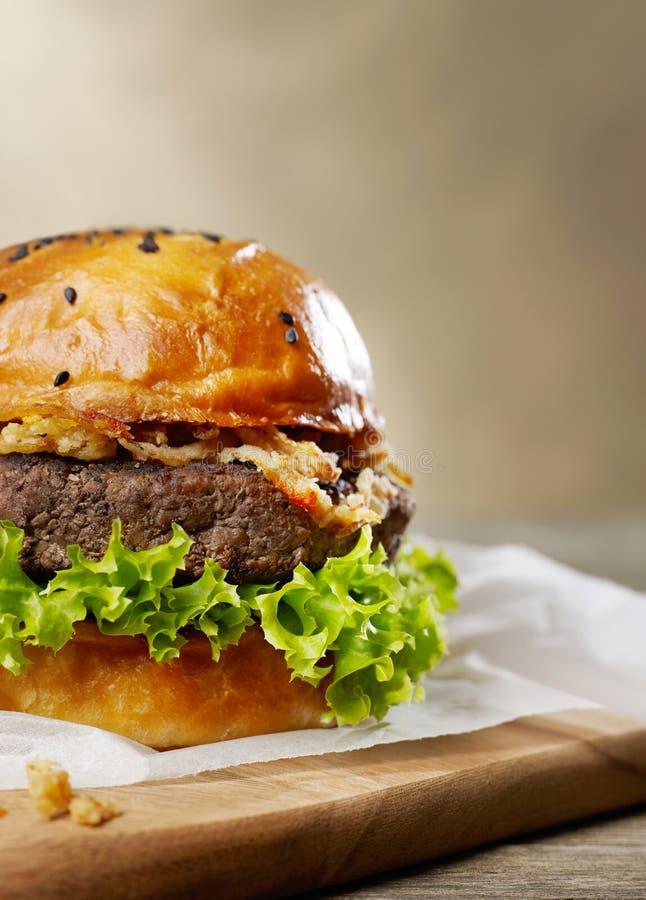 Burger close-up detail stock photos