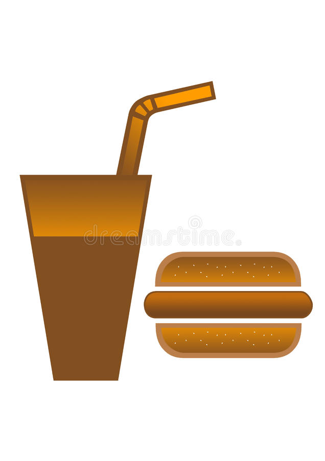 Download Burger And Cola Stock Photo - Image: 10814510