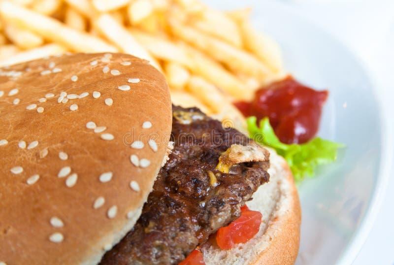 Burger des amerikanischen Käses stockfotos