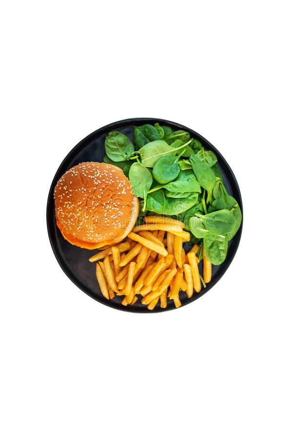 Burger des amerikanischen K?ses mit goldenen Pommes-Frites lizenzfreies stockbild