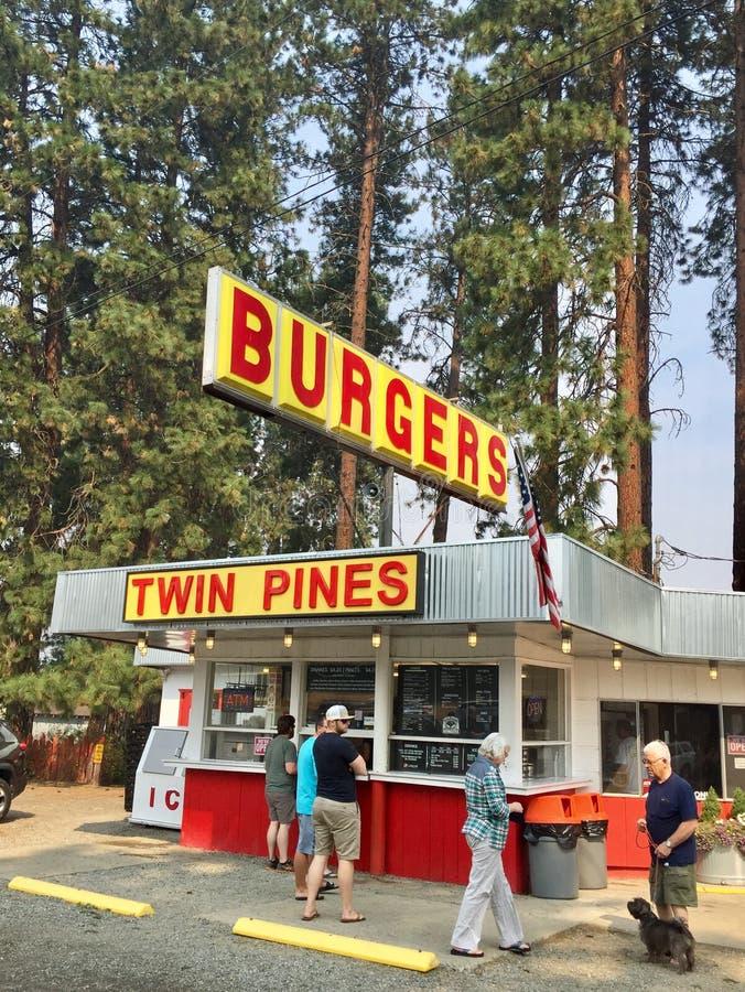 Burger Elum Cle στάση στο πολιτεία της Washington στοκ εικόνες