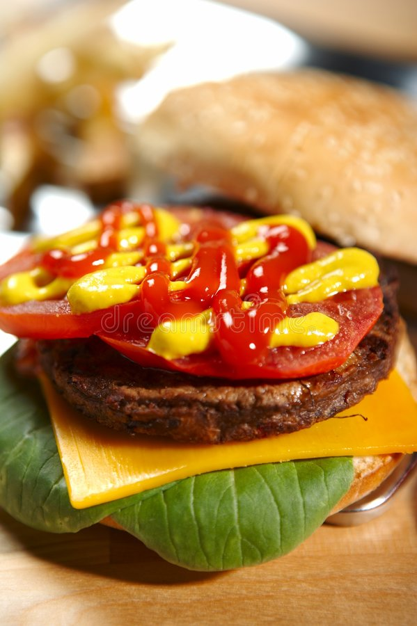 burger fast foody obraz royalty free