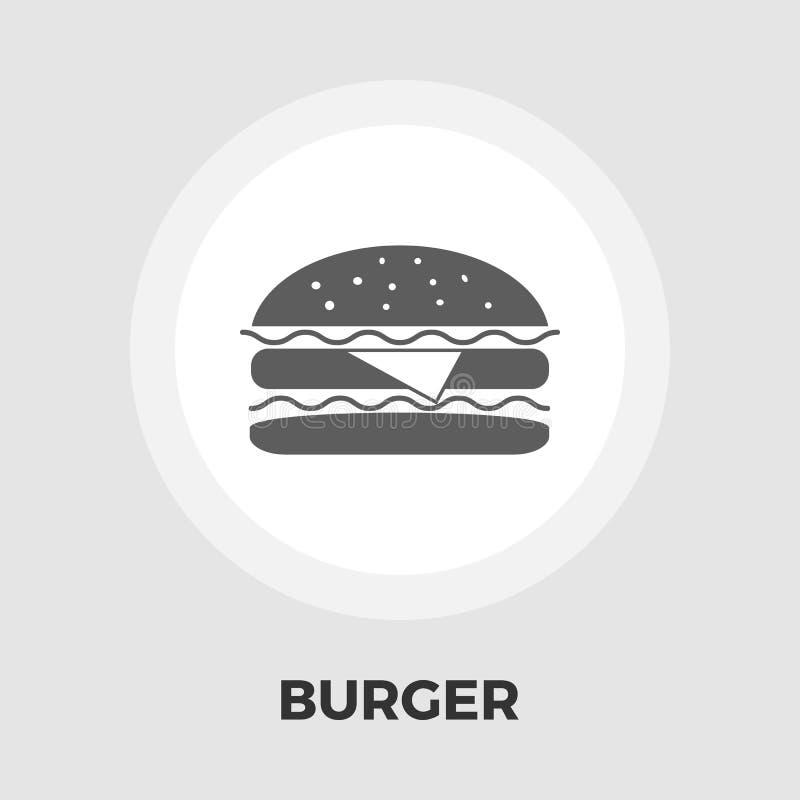 Download Burger-flache Ikone vektor abbildung. Illustration von amerikanisch - 90231301