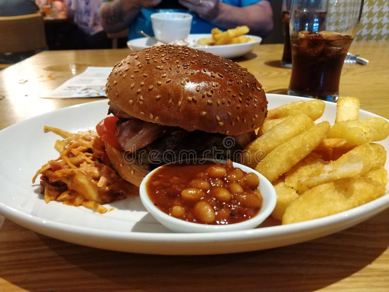 Burger. Food, pub, lunch, yum royalty free stock images