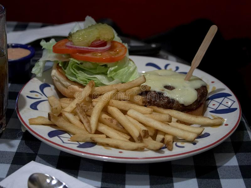 Burger and Fries royalty free stock photos