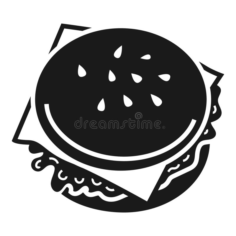 Burger icon, simple style vector illustration