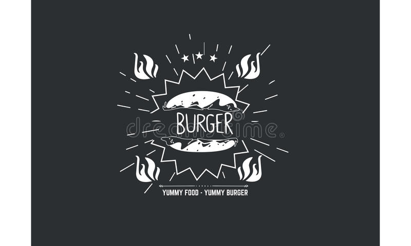 Burger icon vector quote. Background wallpaper stock illustration