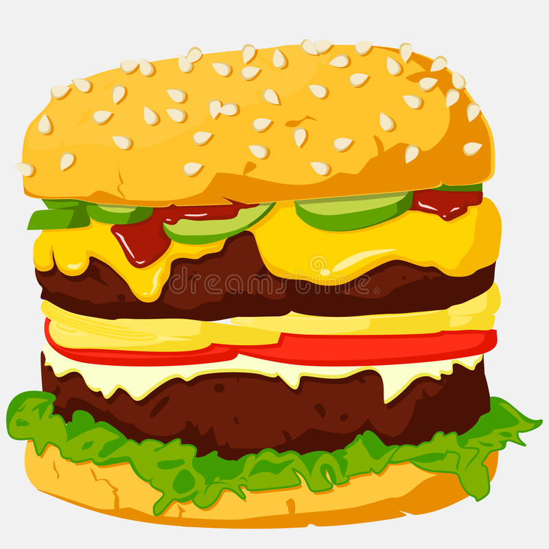 Download Burger Illustration. stock vector. Illustration of isolated - 27567037