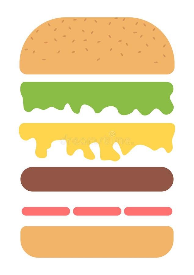 """Poster 19/"""" x 13/"""" Hamburgers Layers Stuffing"""