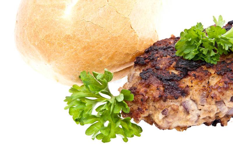 Download Burger Isolated On White Background Stock Image - Image: 24758975