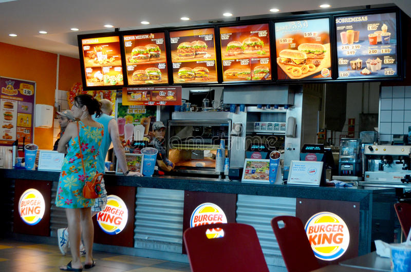 Burger King fotografering för bildbyråer