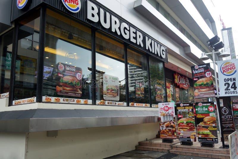 Burger King in Bangkok. BANGKOK, THAILAND- 19 MAY, 2017: American food chain Burger King in Bangkok, Thailand.Burger King is a global chain of hamburger fast stock photography