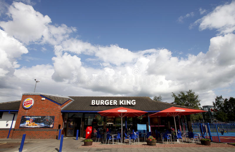Burger King fast food restaurant. Thursday, October 2, 2011. A Burger King fast food restaurant is pictured in North of Scotland, UK royalty free stock image
