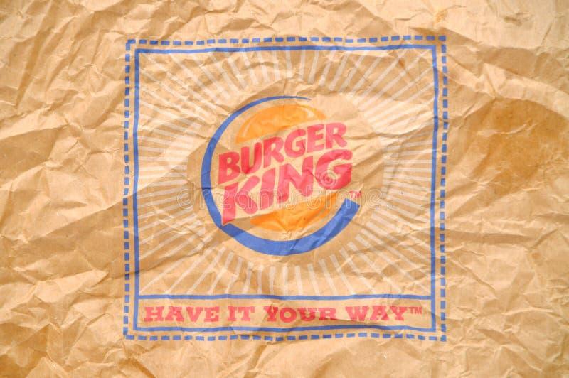 Burger King Logo. Burger King paper bag with logo