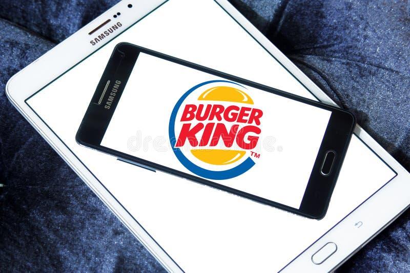 Burger King logo royaltyfri fotografi