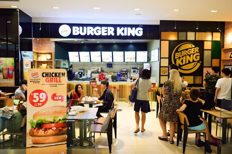 Burger king restaurant interior editorial photography