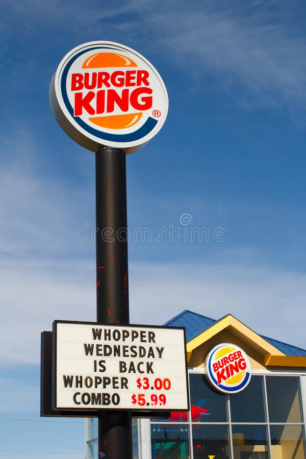 Download Burger King Sign And Storefront Editorial Image